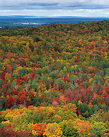 Chequamegon National Forest, WI<br /> View from St. Peter's Dome (WI State Natural Area) at 1600 ft overlooking Chequamegon National Forest in fall