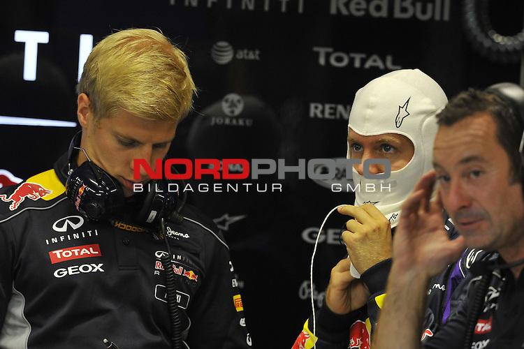 19.-22.09.2013, Marina-Bay-Street-Circuit, Singapur, SIN, F1, Grosser Preis von Singapur, Singapur, Sebastian Vettel (GER), Red Bull Racing <br />  Foto &copy; nph / Mathis