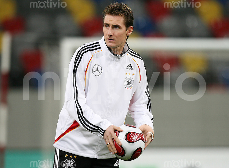 Fussball International, Training der deutschen Nationalmannschaft am in Duesseldorf Miroslav KLOSE (GER)