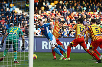 9th February 2020; Stadio San Paolo, Naples, Campania, Italy; Serie A Football, Napoli versus Lecce; Arkadiusz Milik of Napoli is brought down in the box but no decision given