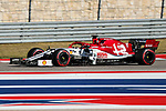 Alfa Romeo Racing driver Kimi Räikkönen (7) of Finland in action during the Formula 1 Emirates United States Grand Prix race held at the Circuit of the Americas racetrack in Austin,Texas.