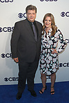 Lance Barber and Zoe Perry arrive at the CBS Upfront at The Plaza Hotel in New York City on May 17, 2017.