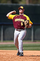 March 7, 2010:  Third Baseman James Teas (5) of the Central Michigan Chippewas during game at Jay Bergman Field in Orlando, FL.  Central Michigan defeated Central Florida by the score of 7-4.  Photo By Mike Janes/Four Seam Images