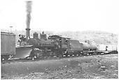 Leased D&amp;RGW K-27 #462 as mid-train helper at Glencoe.<br /> RGS  Glencoe, CO  Taken by Logue, S. L. (Les) - 5/1946