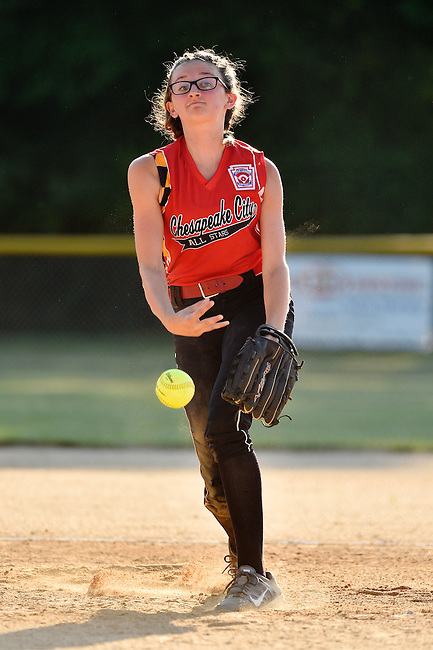 Chesapeake City defeats Perryville 11-1 during a girls softball Little League All-Star game, Thursday, June 30, 2016, in Chesapeake City, Md.