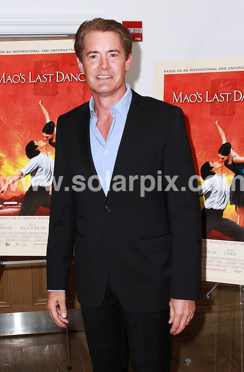 **ALL ROUND PICTURES FROM SOLARPIX.COM**.**SYNDICATION RIGHTS FOR UK, AUSTRALIA, DENMARK, PORTUGAL, S. AFRICA, SPAIN & DUBAI (U.A.E) & ASIA (EXCLUDING JAPAN) ONLY**.Mao's Last Dancer New York City Screening - Arrivals, Crosby Street Hotel, NY, USA, 16 August 2010.This pic: Kyle MacLachlan..JOB REF: 11927    PHZ ward   DATE: 16_08_2010.**MUST CREDIT SOLARPIX.COM OR DOUBLE FEE WILL BE CHARGED**.**MUST NOTIFY SOLARPIX OF ONLINE USAGE**.**CALL US ON: +34 952 811 768 or LOW RATE FROM UK 0844 617 7637**