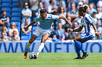 Gaetan Bong of Brighton & Hove Albion during the Friendly match between Brighton and Hove Albion and Lazio at the American Express Community Stadium, Brighton and Hove, England on 31 July 2016. Photo by Edward Thomas / PRiME Media Images.