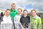 Pictured at the Listowel Community Games on Sunday at Scoil Realta na Maidine Sports ground were PAul O'Connor, Danial Goulding, Aoife O'Connor, Chloe Goulding and Serena Downey.