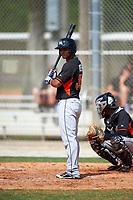 Miami Marlins Angel Reyes (36) during a minor league Spring Training intrasquad game on March 31, 2016 at Roger Dean Sports Complex in Jupiter, Florida.  (Mike Janes/Four Seam Images)