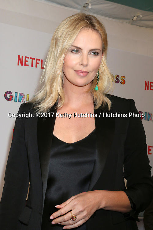 "LOS ANGELES - APR 17:  Charlize Theron at the ""Girlboss"" Premiere Screening at ArcLight Theater on April 17, 2017 in Los Angeles, CA"