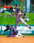3 March 2010: New York Mets' infielder Anderson Hernandez doubles off Matt Diaz during a Grapefruit League game against the Atlanta Braves at Champion Stadium in the ESPN Wide World of Sports Complex in Orlando, Florida. The Braves defeated the Mets 9-5 in the Spring Training matchup. Mandatory Credit: Ed Wolfstein Photo