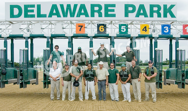 Gate Crew at Delaware Park on 7/21/12