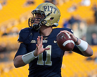 Pitt quarterback Mark Myers. The Pitt Panthers defeated the Louisville Cardinals 20-3 at Heinz Field, Pittsburgh Pennsylvania on October 30, 2010.