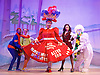 Jack and the Beanstalk <br /> by Susie McKenna with music by Steven Edis <br /> at the Hackney Empire, London, Great Britain <br /> press photocall <br /> 25th November 2015  <br /> <br /> Clive Rowe as Dame Daisy Trott<br /> <br /> Debbie Kurup as Jack <br /> <br /> Kat B as Snowman<br /> <br /> Darren Hart as Clumsy Colin<br /> <br /> <br /> <br /> Georgia Oldman as Off Her Trolley Molly<br /> <br /> <br /> <br /> Photograph by Elliott Franks <br /> Image licensed to Elliott Franks Photography Services