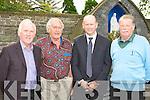 Donal O'Connor St Mary's Basketball, Paddy Joe Bailey Ballymac, Tony Leen Examiner Sports Editor and John Pender Castleisland Desmonds at Con Houlihan's funeral in St Stephen and John church Castleisland on Friday....