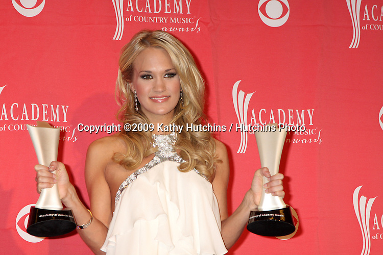 Carrie Underwood  in the Press Room  at the 44th Academy of Country Music Awards at the MGM Grand Arena in  Las Vegas, NV on April 5, 2009.©2009 Kathy Hutchins / Hutchins Photo....                .
