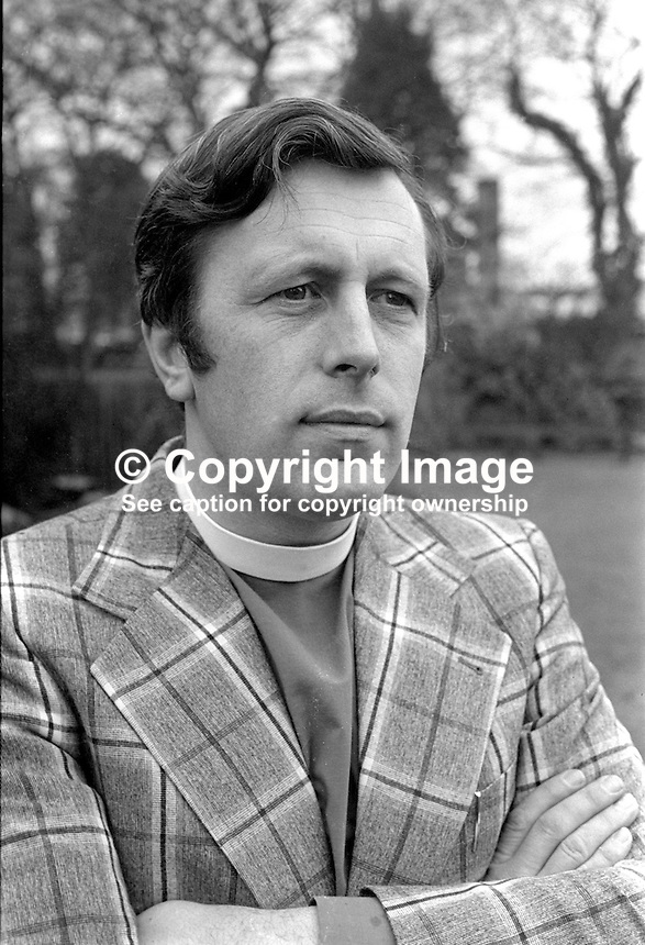 Rev Houston McKelvey, rector, Church of Ireland, Anglican, St Kilda's, Seymour Hill, Dunmurry, Belfast, N Ireland, 197502130137<br /> <br /> Copyright Image from Victor Patterson, 54 Dorchester Park, Belfast, United Kingdom, UK.  Tel: +44 28 90661296; Mobile: +44 7802 353836; Voicemail: +44 20 88167153;  Email1: victorpatterson@me.com; Email2: victor@victorpatterson.com<br /> <br /> For my Terms and Conditions of Use go to http://www.victorpatterson.com/Terms_%26_Conditions.html