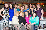 Girls night out in Nicks Restaurant, Killorglin on Saturday night, pictured Front from left: Anne Foley, Niamh Burns, Norma O'Donoghue, Catriona Rohan, .Back from left: Carol Kennelly, Helen Sheehan, Olivia Wall, Mary Stapleton Foley, Pauline Molorney, Annemarie O'Leary, Catriona Sayers, Ann Kahraman, Sabrina Eitel and Noreen O'Donoghue.