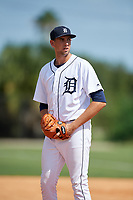 Detroit Tigers pitcher Ted Stuka (63) during an Instructional League game against the Philadelphia Phillies on September 19, 2019 at Tigertown in Lakeland, Florida.  (Mike Janes/Four Seam Images)