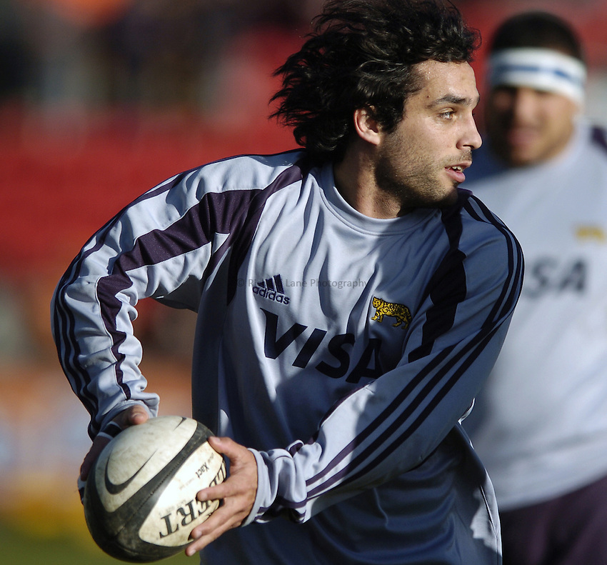 Photo: Jonathan Butler..Leicester Tigers v Argentina. The PWC Challenge Cup. 11/02/2007..Martin Gaitan of Argentina.