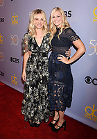 LOS ANGELES, CA - OCTOBER 04: Actresses Kaley Cuoco (L) and Beth Behrs attend the CBS' 'The Carol Burnett Show 50th Anniversary Special' at CBS Televison City on October 4, 2017 in Los Angeles, California.<br /> CAP/ROT/TM<br /> &copy;TM/ROT/Capital Pictures