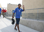 08 September 2007: Ronaldinho waives to the fans as he arrives. The Brazil Men's National Team practiced at Toyota Park in Bridgeview, Illinois.