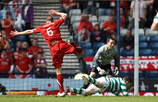 Andrew Considine trips Gary Hooper in box for a penalty kick