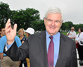 """Washington, DC - May 16, 2009 -- Former Speaker of the House Newt Gingrich (Republican of Georgia) answers a reporter's question prior to the """"Close the Gap: Education Equality Day"""" on the White House Ellipse in Washington, D.C. on Saturday, May 16, 2009..Credit: Ron Sachs / CNP.(RESTRICTION: NO New York or New Jersey Newspapers or newspapers within a 75 mile radius of New York City)"""