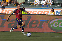 Chris Brown races upfield. The Los Angeles Galaxy defeated Real Salt Lake, 3-2, at the Home Depot Center in Carson, CA on Sunday, June 17, 2007.