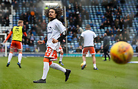 Blackpool's Nya Kirby warming up before the match <br /> <br /> Photographer Andrew Kearns/CameraSport<br /> <br /> The EFL Sky Bet League One - Portsmouth v Blackpool - Saturday 12th January 2019 - Fratton Park - Portsmouth<br /> <br /> World Copyright &copy; 2019 CameraSport. All rights reserved. 43 Linden Ave. Countesthorpe. Leicester. England. LE8 5PG - Tel: +44 (0) 116 277 4147 - admin@camerasport.com - www.camerasport.com