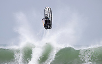 Jetski rider Kane Kilpatrick of Australia shows his skill in the surf during the Yamaha NZ Festival of Freeride jetski event, held at Karioitahi Beach, Waiuku, New Zealand.   09 February 2018. Photo: Brett Phibbs / PhibbsVisuals