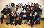 """Cast & creative team during the first day of rehearsals for the Broadway cast of """"Be More Chill"""" at Pearl Studios on January 10, 2019 in New York City."""