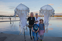 Luminata Lantern Parade 2015, Green Lake Park, Seattle, Washington State, WA, America, USA.