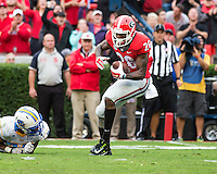 ATHENS, GEORGIA - September 26, 2015: University of Georgia Bulldogs vs. Southern Jaguars at Sanford Stadium. Final score Georgia 48, Southern 6