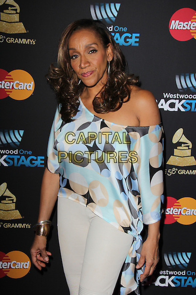LOS ANGELES, CA - FEBRUARY 12: Kathy Sledge at the 2016 Grammys Radio Row Day 1 presented by Westwood One, Staples Center, Los Angeles, California on February 12, 2016.   <br /> CAP/MPI/DE<br /> &copy;DE//MPI/Capital Pictures