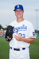 Burlington Royals pitcher Vance Tatum (32) poses for a photo prior to the game against the Bluefield Blue Jays at Burlington Athletic Stadium on June 27, 2016 in Burlington, North Carolina.  The Royals defeated the Blue Jays 9-4.  (Brian Westerholt/Four Seam Images)