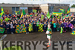 On Tuesday teachers and  pupils of Ardfert NS gathered with their Kerry Flags to wish James Baxter of 6th Class Ardfert NS well as he was selected to lead the Kerry Team out on to the pitch at the All Ireland Football Final on Sunday