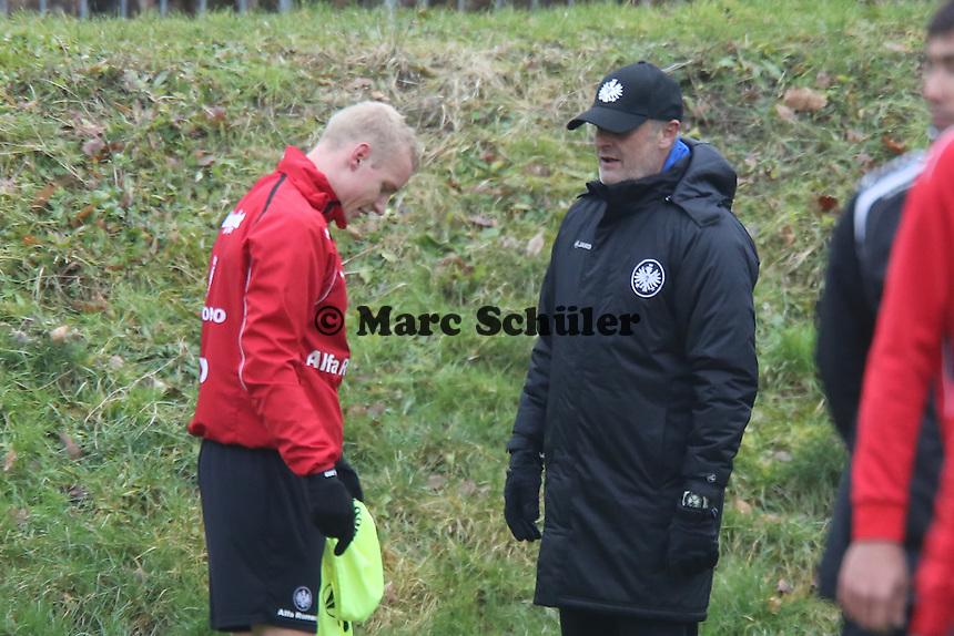 Sebastian Rode (Eintracht) mit Trainer Armin Veh