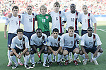 11 July 2007: USA starting eleven.  Front row (l to r): Sal Zizzo, Freddy Adu, Tony Beltran, Robbie Rogers, Anthony Wallace.  Back row (l to r): Nathan Sturgis, Julian Valentin, Brian Perk, Michael Bradley, Josmer Altidore, Danny Szetela. The Under-20 Men's National Team of the United States defeated Uruguay's Under-20 Men's National Team 2-1 after extra time in a  round of 16 match at the National Soccer Stadium (also known as BMO Field) in Toronto, Ontario, Canada during the FIFA U-20 World Cup Canada 2007 tournament.