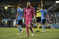 1st November 2019; Leichhardt Oval, Sydney, New South Wales, Australia; A League Football, Sydney Football Club versus Newcastle Jets; Goalkeeper Andrew Redmayne of Sydney appeals for calm - Editorial Use
