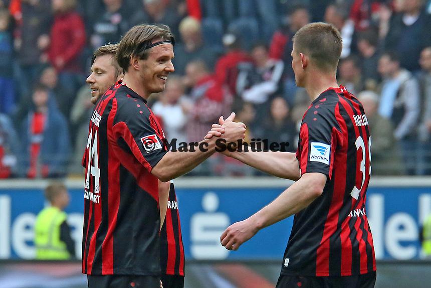 Siegesjubel Eintracht mit Alex Meier - Eintracht Frankfurt vs. 1. FSV Mainz 05