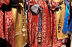 Bethlehem, Greek Orthodox Priests at Manger Square on Christmas day&#xA;<br />