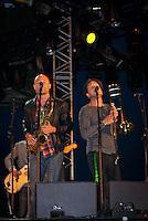 Band of Daniel Lemmar on stage. Photo: André Jörg/Scouterna