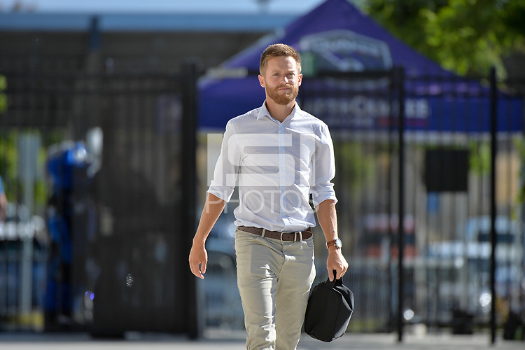San Jose, CA - Wednesday June 13, 2018: Chris Wehan prior to a Major League Soccer (MLS) match between the San Jose Earthquakes and the New England Revolution at Avaya Stadium.