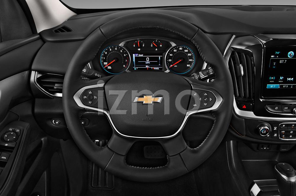 Car pictures of steering wheel view of a 2018 Chevrolet Traverse 1LT 5 Door SUV Steering Wheel