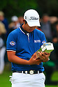 Beong-Hun An of Korea poses with the trophy after the final round of the BMW PGA Championship played over the West Course at the Wentworth Club on 24th May 2015 in Virginia Water, Surrey, England. Picture Credit / Phil INGLIS