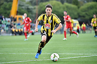Nathan Burns in action during the A League - Wellington Phoenix v Adelaide United at Hutt Recreational Ground, Lower Hutt, New Zealand on Saturday 7 March 2015. <br /> Photo by Masanori Udagawa. <br /> www.photowellington.photoshelter.com.