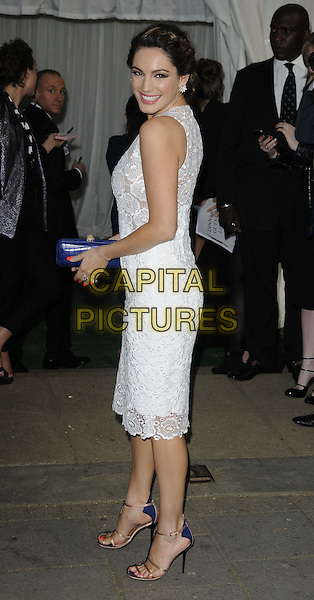Kelly Brook.The Glamour Women Of The Year Awards 2012, Berkeley Square Gardens, Berkeley Square, London, England..May 29th, 2012.full length blue clutch bag dress white side .CAP/CAN.©Can Nguyen/Capital Pictures.