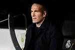 Zinedine Zidane coach of Real Madrid during La Liga match between Real Madrid and Athletic Club de Bilbao at Santiago Bernabeu Stadium in Madrid, Spain. December 22, 2019. (ALTERPHOTOS/A. Perez Meca)
