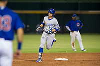 AZL Royals first baseman Nick Pratto (13) rounds the bases after hitting a home run against the AZL Cubs on July 19, 2017 at Sloan Park in Mesa, Arizona. AZL Cubs defeated the AZL Royals 5-4. (Zachary Lucy/Four Seam Images)